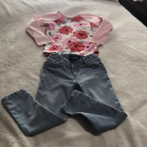 Toddler Girls Top And Jeans. EUC